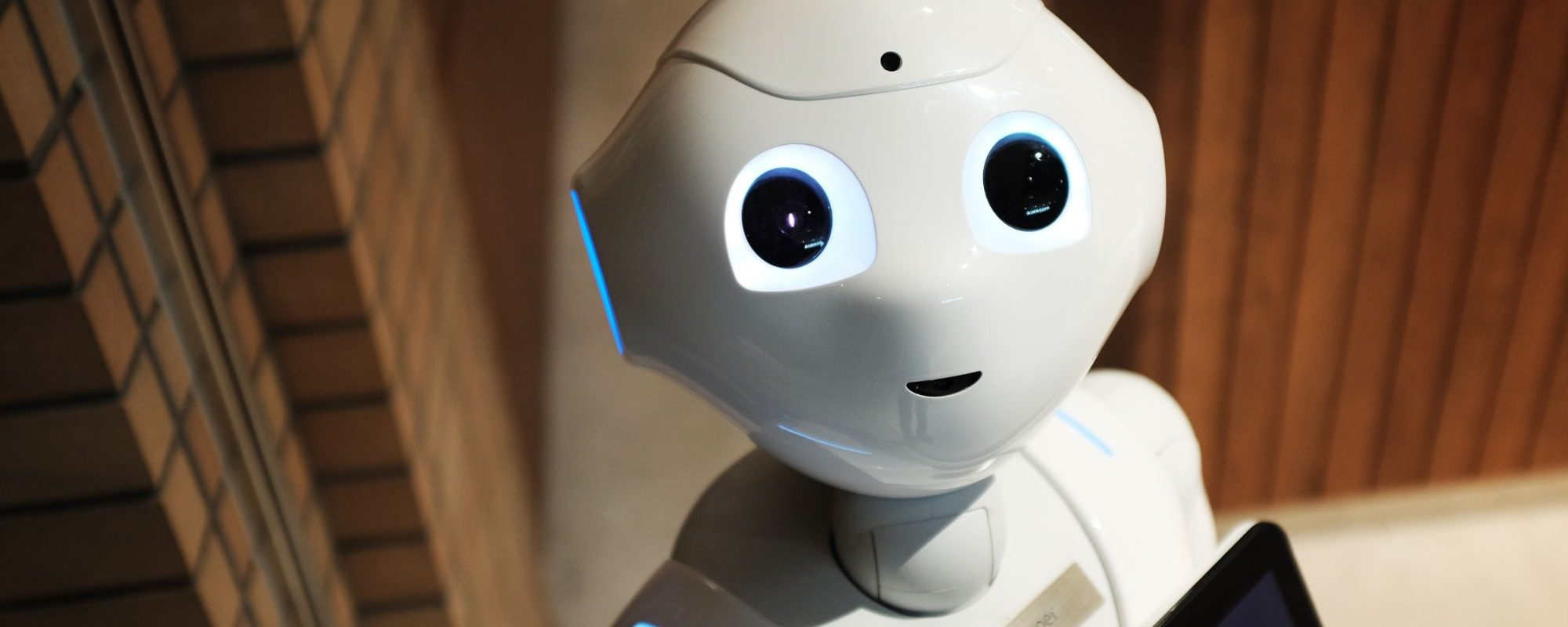 An A.I. powered robot called pepper.