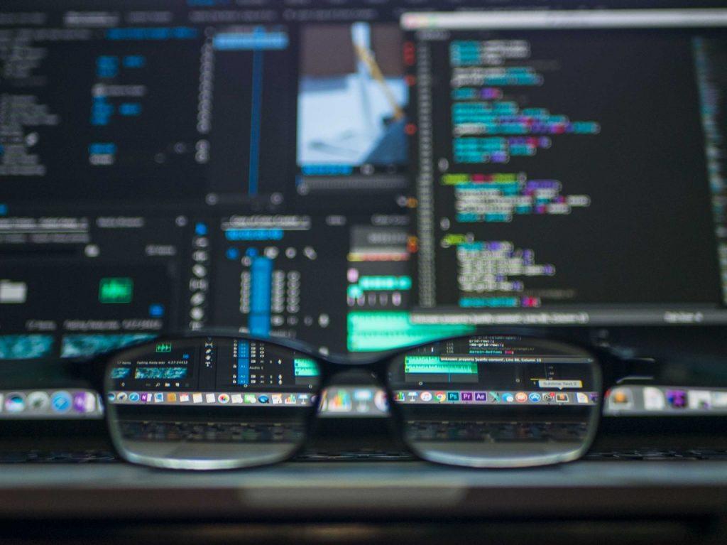 Devops Developer glasses on table