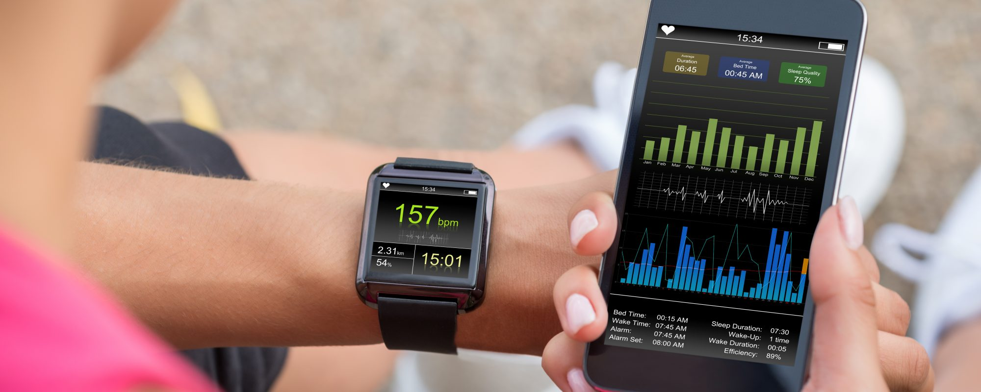 Fitness tracker app and personal device